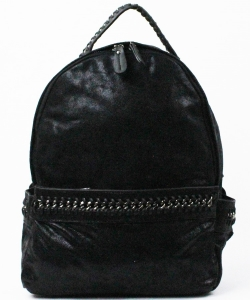 Trendy Wholesale Fashion Back Pack A81018 BLACK