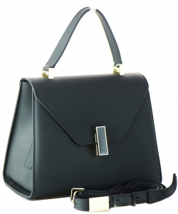 Shimmery Jelly Convertible Hand Bag 7015 BLACK