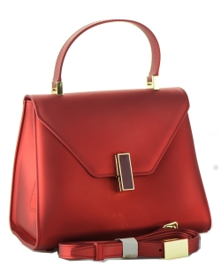Shimmery Jelly Convertible Hand Bag 7015 RED