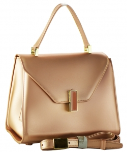 Shimmery Jelly Convertible Hand Bag 7015 RoseGold