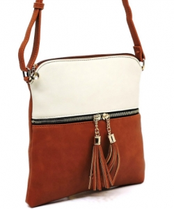 Elegant Wholesale Fashion Cross Body Bag LP062-BG/TAN