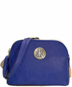 Messenger Handbag Design Faux Leather Classic Style WU040 NC NAVY