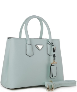 Triangular Logo Structured Saffiano Satchel OCK510617-1  LMINT