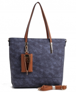 Fashion PU Leather Totes Bag Shoulder Bag for Women and Shopping Bag Handbag Clutch Office Briefcase LW1463 BLUE/BROWN