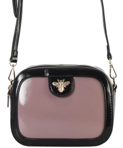 Fashion Glossy Stitch Cross body Bag MP7255 BLUSH