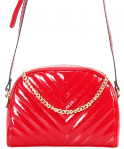 Cute Chevron Stitched Crossbody Bag  BR7099 RED