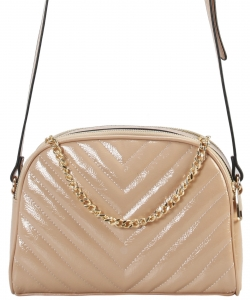 Cute Chevron Stitched Crossbody Bag  BR7099 TAUPE