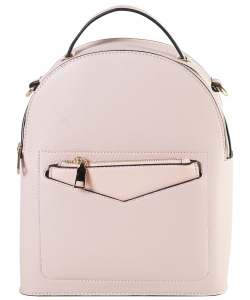 Hardware Accent Fashion Backpack LI7313 PINK