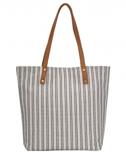 CANVAS Tote Bag Reversible Shoulder Handbag Stripe  Casual Shopper Bag BGA2622