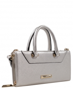 Crossbody Clutch Wallet W1161 SILVER