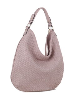 Woven Handbags Fashionable Simple Handbag Ladies Shoulder Bag FC19218 BLUSH
