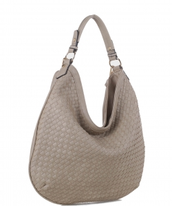 Woven Handbags Fashionable Simple Handbag Ladies Shoulder Bag FC19218 TAUPE
