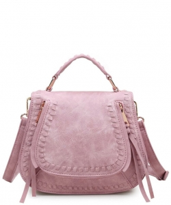 Urban Expressions LARGE Chole Textured Messenger Bag 12193-UR  ANTIQUE PINK
