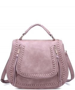 Urban Expressions LARGE Chole Textured Messenger Bag 12193-UR  FRENCH ROSE