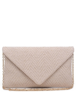Urban Expression Women's Clutch Bag Messenger Shoulder Handbag Tote Bag Purse- clutch Envelope 20960 IVORY
