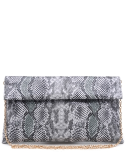 Urban Expression Women's Clutch Bag Messenger Shoulder Handbag  Snake Skin Clutch Purse- clutch Envelope 10385SB