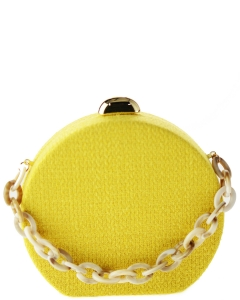 Smooth Natural Woven Material HBG103043 YELLOW