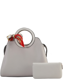 Cute Princess Domed Satchel with Silky Scarf DB8001 BIEGE