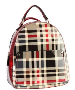 DESIGNER CHECKERED BACKPACK GZ6352 RED