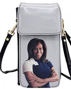 Michelle Obama Cellphone Wallet Wristlet Collection 28-MS3922 BLACK
