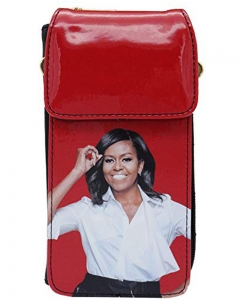 Michelle Obama Cellphone Wallet Wristlet Collection 28-MS3921 RED