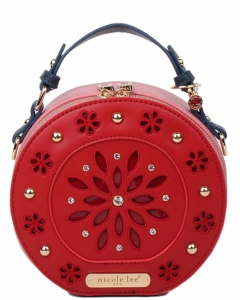 Nicole Lee Astrid Laser Cut Mini Bag P11557 RED