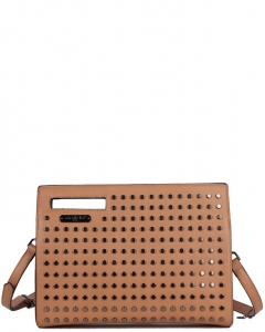 NICOLE LEE Hildur Structed Envelop Crossbody P12060 CAMEL