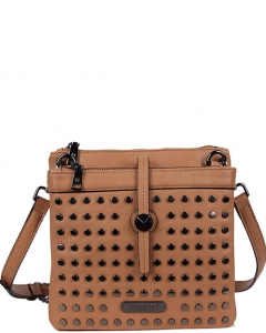 NICOLE LEE Hildur Structed  Crossbody P12061 CAMEL