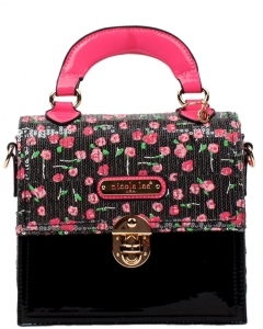 NICOLE LEE Imogen Flower Sequins Print Mini Handbag SE11707FLOWER
