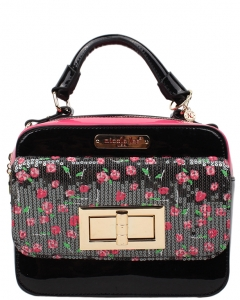 NICOLE LEE Imogen Flower Sequins Print Mini Handbag SE11706FLOWER