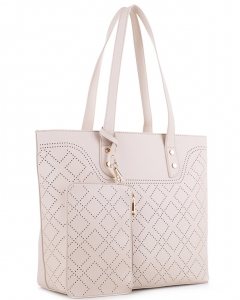 Fashion Laser Cut Handbag BS3067 SAND