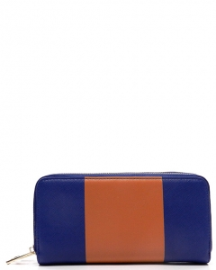 Designer inspired wallet K122W0095 BLUE