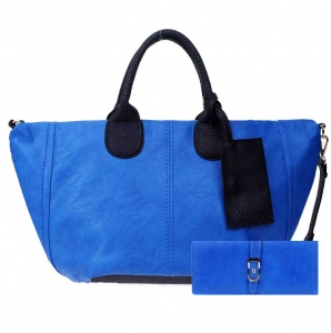 Handbag and Wallet Combo 27237 25816 Blue