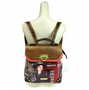 Brentano LD26010 Telephone Booth Backpack - Brown