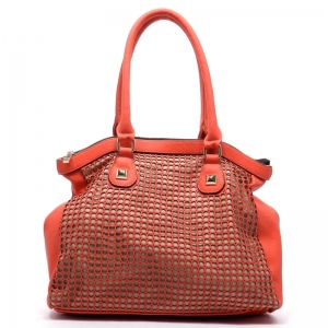 Laser Cut Tote Bag - Coral