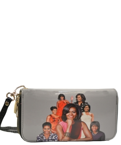 Michelle Obama Icon Wrislet Wallet 28-ML8811  BLACK