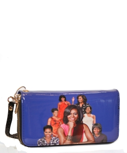 Michelle Obama Icon Wrislet Wallet 28-ML8811  BLUE