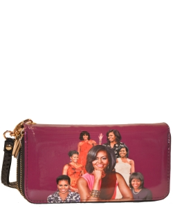 Michelle Obama Icon Wrislet Wallet 28-ML8811  PURPLE