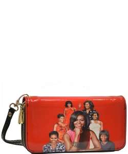 Michelle Obama Icon Wrislet Wallet 28-ML8811  RED