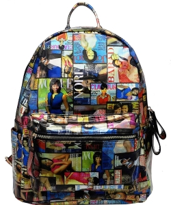 Michelle Obama Magazine Backpack 28-mp3606m MULTI