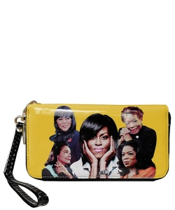 Michelle and African American Women Icons Wallet Collection 28-MQ8811 YELLOW