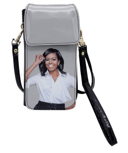 Michelle Obama Cellphone Wallet Wristlet Collection 28-MS3921 BLACK