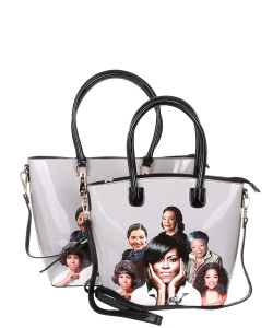 Michelle Obama and African American Icons Style Handbags Collection 28-MT6212 BLACK