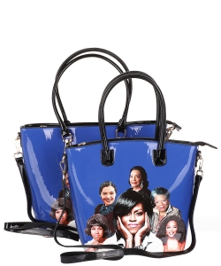 Michelle Obama and African American Icons Style Handbags Collection 28-MT6212 BLUE