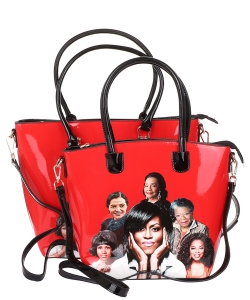 Michelle Obama and African American Icons Style Handbags Collection 28-MT6212 RED