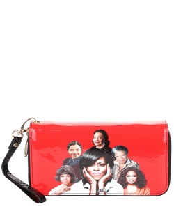 Michelle and African American Women Icons Wallet Collection 28-MT8811 RED
