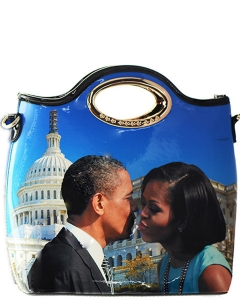Chic Famous People Magazine Print Tote Handbag Design MULTI