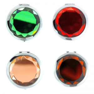Set of Six Random Compact Mirrors Combo Package 28649 Gem Accent