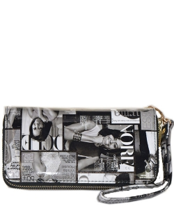 Magazine Fashion wallets Black and White
