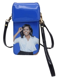 Michelle Obama Cellphone Wallet Wristlet Collection 28-MS3921 BLUE